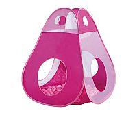 Knorrtoys Ružový stan s otvormi a loptičky