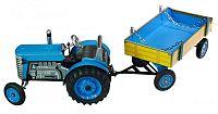 KOVAP Traktor Zetor s prívesom modrý na kľúčik kov 28 cm Kovap v krabičke