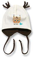 Lafel Chlapčenská čiapka Sowa - hnedo-béžová, 62 cm