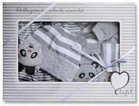 Lafel Chlapčenský dojčenský set Panda - sivý, 56 cm