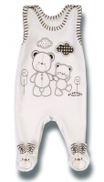 Lafel Detské dupačky Macko - biele, 74 cm