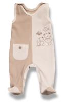 Lafel Detské dupačky Medvedík - bielo-hnedé, 74 cm