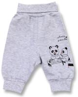 Lafel Detské tepláky Panda - šedé, 68 cm