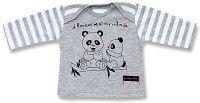 Lafel Detské tričko Panda - sivé, 68 cm