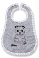 Lafel Detský podbradník Panda - sivý, 1-3 roky