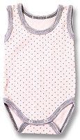Lafel Dievčenské bodkované body Cat - ružové, 68 cm