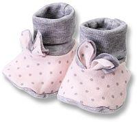 Lafel Dievčenské bodkované ponožky / capáčky Cat - ružové, EUR 19