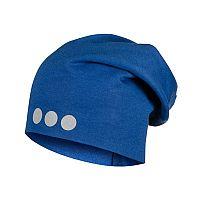 Lamama Detská čiapka s reflexnou potlačou - modrá, 46-48 cm
