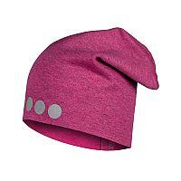 Lamama Dievčenská čiapka s reflexnou potlačou - ružová, 52-54 cm