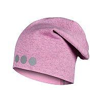 8ffc2673a Lamama Dievčenská čiapka s reflexnou potlačou - svetlo ružová, 52-54 cm