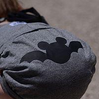 Lamama Nohavičky na plienku Batman 6-12 mesiacov (74/80 cm) - tmavo sivé, 6-12 měsíců