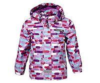 LEGO® wear Dievčenská vzorovaná bunda - fialová, 80 cm