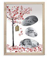 Lilipinso Papierový fotorámček - japonský strom, 18x24 cm