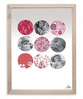 Lilipinso Papierový fotorámček - kolieska s kvetmi, 18x24 cm