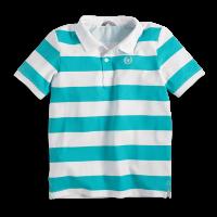 Lindex Chlapčenské pruhované polo tričko - tyrkysovo-biele, 158-164 cm