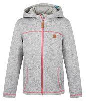 LOAP Detský sveter s kapucňou Kefir- sivý, 164 cm