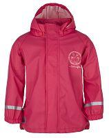 LOAP Dievčenská nepremokavá bunda SILVESTER - ružová, 116 cm