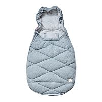Lodger Mini Bunker Scandinavian Quilt Light Grey Melange, 85x45 cm