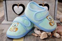 Lola Baby Chlapčenské capáčky s medvedíkom - svetlo modré, EUR 19
