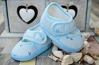 Lola Baby Dievčenské capáčky s potlačou - svetlo modré, EUR 18