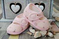 Lola Baby Dievčenské capáčky s potlačou - svetlo ružové, EUR 21