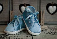 Lola Baby Dievčenské topánočky - svetlo modré, EUR 19