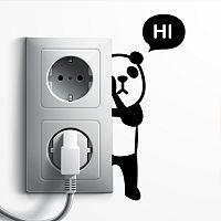 MaDéco Nástenná samolepka Roztomilá panda