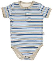 Mamatti Chlapčenské pruhované body - modré, 92 cm