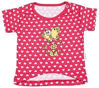 Mamatti Dievčenské tričko s motýlikom - nariasené rukávy, 68 cm