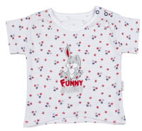 Mamatti Dievčenské tričko s zajačikom - nariasené rukávy, 98 cm