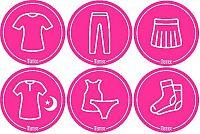 Mamiee Samolepky pre dievčatá ružové - set 6 kusov