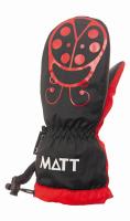 Matt Dievčenské palčiaky Marieta - červeno-čierne, 92 cm