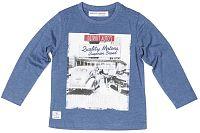 Minoti Chlapčenské tričko Race 3 s obrázkom - modré, 80-86 cm