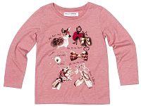 Minoti Dievčenské tričko Forest 5 s obrázkami - ružové, 80-86 cm