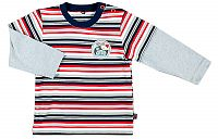 MMDadak Chlapčenské pruhované tričko - farebné, 62 cm