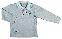 MMDadak Chlapčenské tričko s golierom - šedé, 92 cm