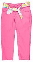 MMDadak Dievčenské nohavice so zaväzovacím opaskom Smile - ružové, 128 cm