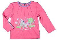 MMDadak Dievčenské tričko s jednorožcom - ružové, 80 cm