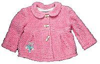 MMDadak Dievčenský kabátik so sovou - ružový, 80 cm