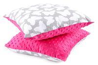 My Best Home Detský vankúš Minky Motýliky, 40x40 cm - ružový