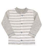 Nini Chlapčenský pruhovaný kabátik - sivý, 68 cm