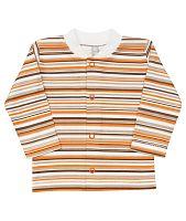 Nini Detský kabátik pruhovaný - bielo-oranžovo-hnedý, 68 cm