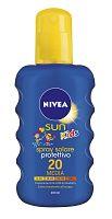 Nivea Sun Detský farebný sprej OF20 200 ml