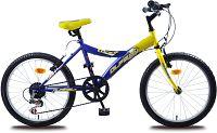 "Olpran Detský bicykel Lucky 20""- modro-žltý"