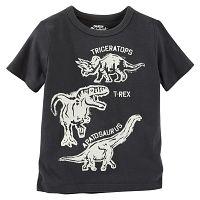 Oshkosh Chlapčenské tričko s dinosaurmi- čierne, 98 cm