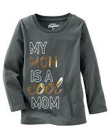 Oshkosh Detské tričko Cool mom - tmavo šedé, 80 cm