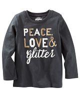 Oshkosh Detské tričko Peace - tmavo šedé, 86 cm