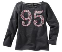 Oshkosh Dievčenské tričko 95 - tmavo šedé, 68 cm