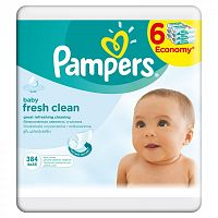 Pampers Obrúsky Baby Fresh 6x64ks