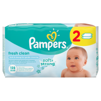 Pampers obrúsky Fresh Clean 2x64 ks